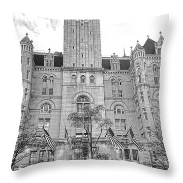 The Old Post Office  Throw Pillow by Olivier Le Queinec