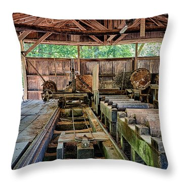 The Old Sawmill Throw Pillow