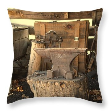 Throw Pillow featuring the photograph The Old Shed by B Wayne Mullins