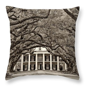 The Old South Sepia Throw Pillow