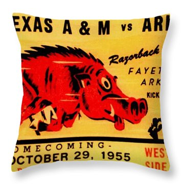 The Old Southwest Conference Throw Pillow by Benjamin Yeager
