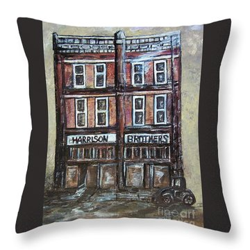 Throw Pillow featuring the painting The Old Store by Eloise Schneider