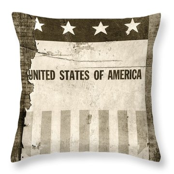 The Old Tag Bw Throw Pillow by Martin Bergsma