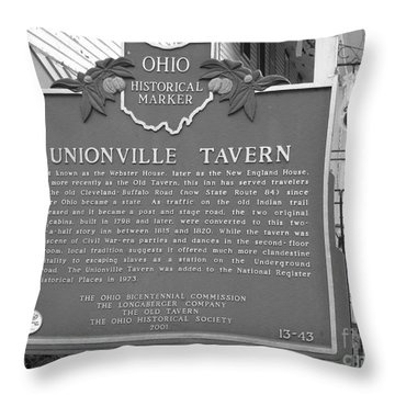 The Old Tavern II Throw Pillow