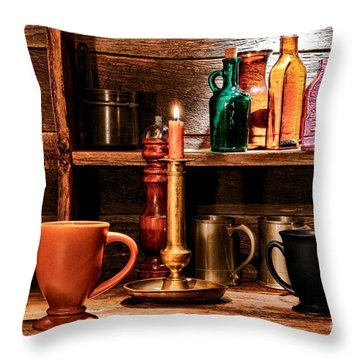 The Old Tavern Throw Pillow by Olivier Le Queinec