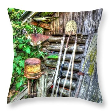 The Old Tool Shed Throw Pillow