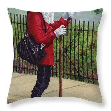 The Old Traveler Throw Pillow