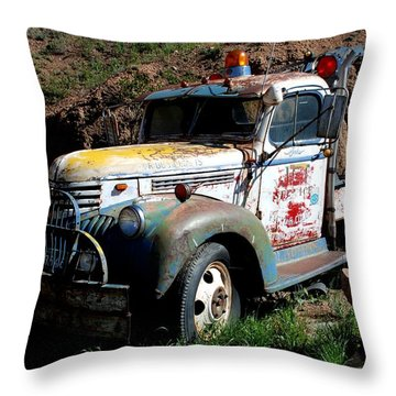 The Old Truck Throw Pillow by Dany Lison