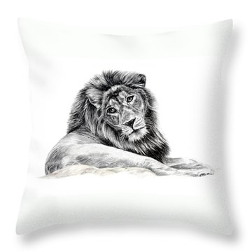 The Old Warrior Throw Pillow