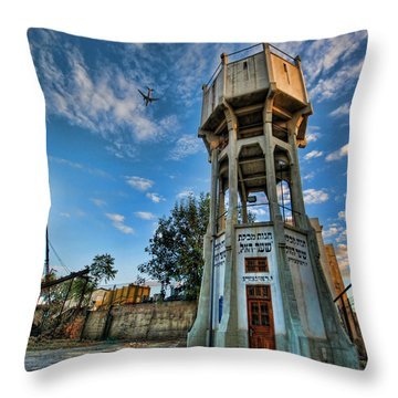 The Old Water Tower Of Tel Aviv Throw Pillow