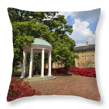 The Old Well At Chapel Hill Campus Throw Pillow