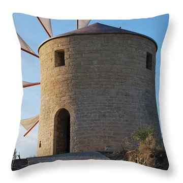 The Old Windmill 1830 Throw Pillow
