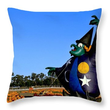Throw Pillow featuring the photograph The Old Witch by Michael Gordon