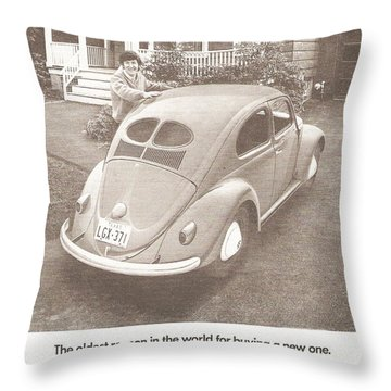 The Oldest Reason In The World For Buying A New One Throw Pillow by Georgia Fowler