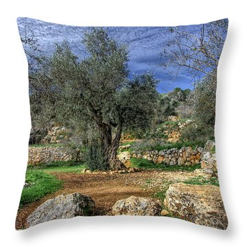 The Olive Tree Throw Pillow