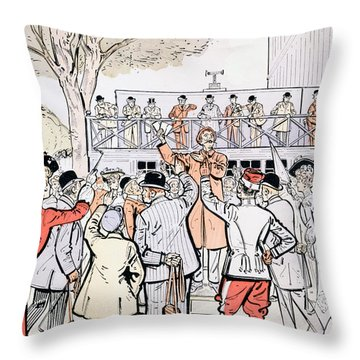 The Oncourse Bookie Throw Pillow