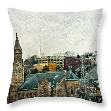 The Only Good Thing About The Highway Is The Scenery Throw Pillow by Trish Tritz