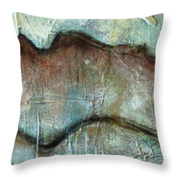 The Only Way Out Is Through Throw Pillow