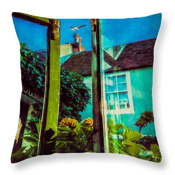 Throw Pillow featuring the photograph The Open Window by Chris Lord
