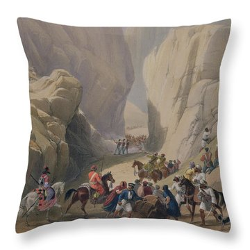 The Opening Into The Narrow Pass Above Throw Pillow