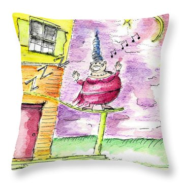 The Opera Singer Throw Pillow