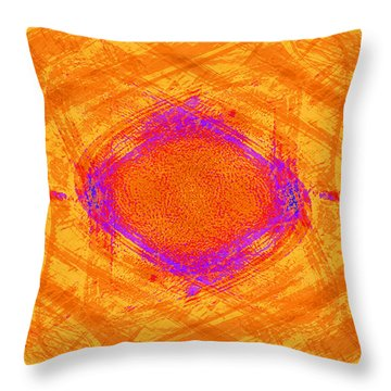The Opposite Of The Blues Throw Pillow by Mathilde Vhargon