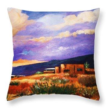 The Orange Glow Of Sunset Throw Pillow