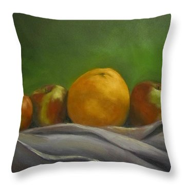 The Orange Throw Pillow