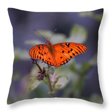The Orange Wings Throw Pillow