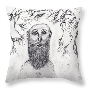 The Orchid Grower Throw Pillow