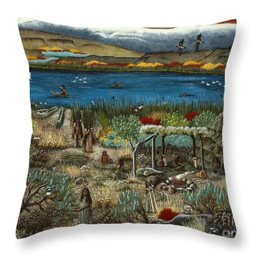 The Oregon Paiute Throw Pillow by Jennifer Lake