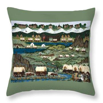 The Oregon Trail Throw Pillow