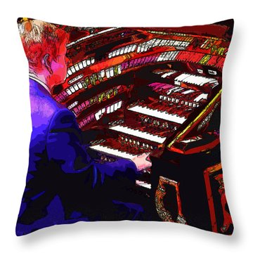 The Organ Player Throw Pillow