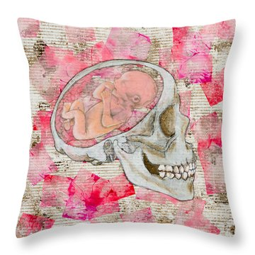 The Origin Of War Throw Pillow
