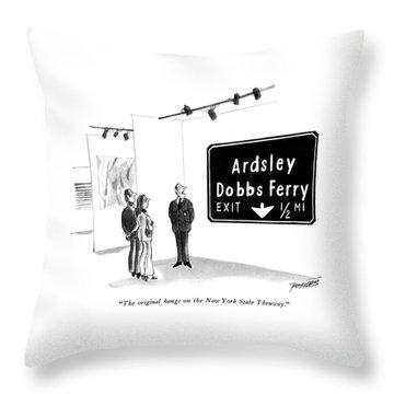The Original Hangs On The New York State Thruway Throw Pillow