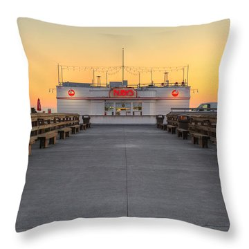 Throw Pillow featuring the photograph The Original Ruby's Diner by Eddie Yerkish