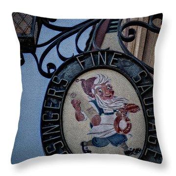 The Original Usingers Sausage Throw Pillow