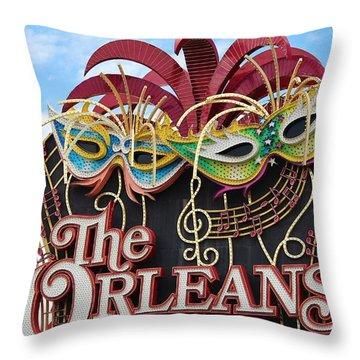 The Orleans Hotel Throw Pillow by Cynthia Guinn