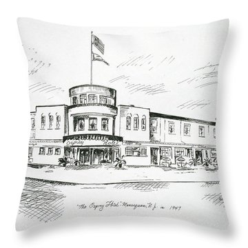 The Osprey In Manasquan Nj Throw Pillow by Melinda Saminski