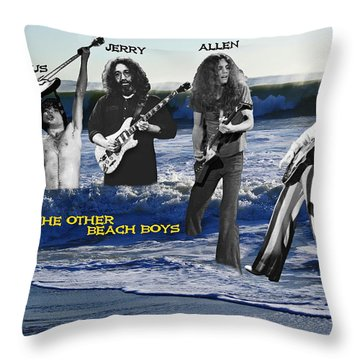 Throw Pillow featuring the photograph The Other Beach Boys by Ben Upham III