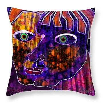 The Other Cheek Throw Pillow by Carol Jacobs