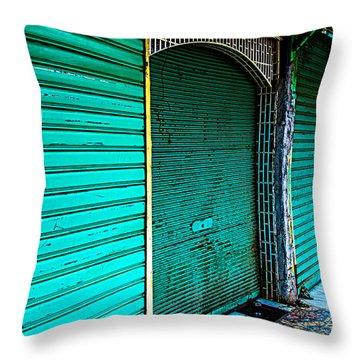 Marrakech Aqua Throw Pillow