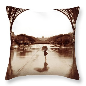 The Other Face Of Paris Throw Pillow