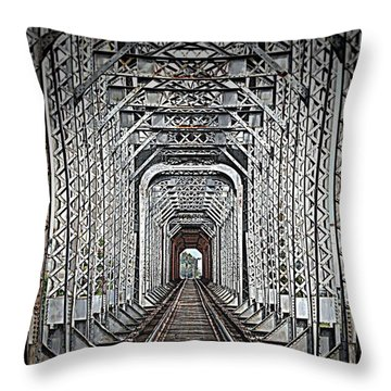 Throw Pillow featuring the photograph The Other Side  by Barbara Chichester