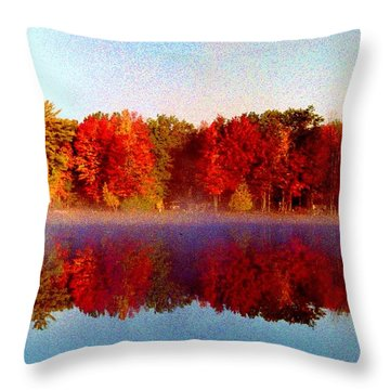 Throw Pillow featuring the photograph The Other Side... by Daniel Thompson