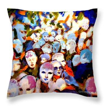 The Other Side Throw Pillow by Helena Wierzbicki