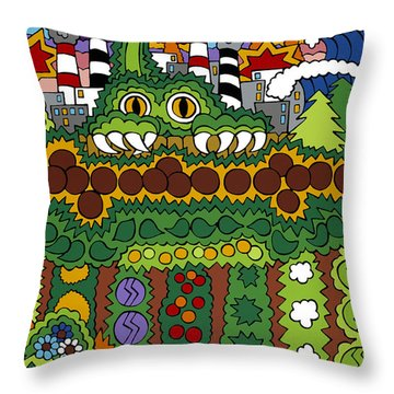 The Other Side Of The Garden  Throw Pillow