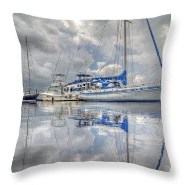 The Outer Pier Throw Pillow by John Adams