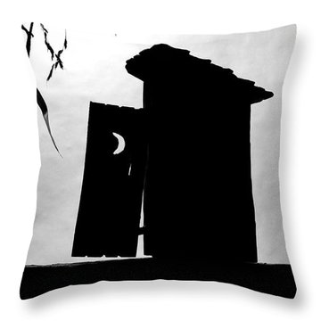Throw Pillow featuring the photograph The Outhouse by Mary Lee Dereske