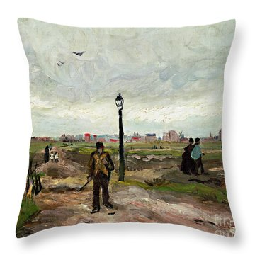 The Outskirts Of Paris Throw Pillow by Vincent van Gogh